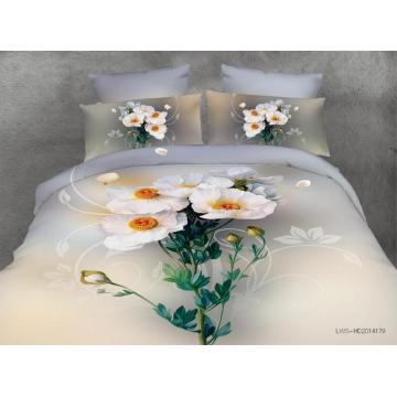 Top grade 100% Polyester 3D printed bedding set