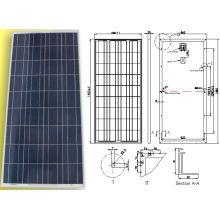 Module solaire polycristallin de panneau de PV de 18V 150W avec la certification d'OIN de TUV