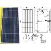 18V 150W Polycrystalline Solar Panel PV Module with TUV ISO Certification