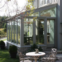 Алюминиевые стеклянные солярии с большой раздвижной дверью (М-С)
