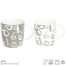 Classic Number Decal household New Bone China Mug