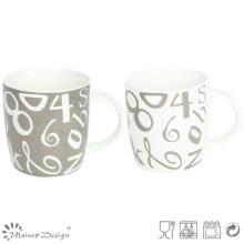 Classic Number Decal House New Bone China Mug