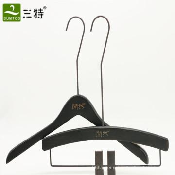 длинная шея крюк бутик бренд деревянный комплект вешалка