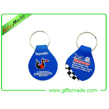 2d PVC Key Chain with Embossed Logo