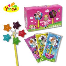 Wholesale Lollipop Funny Star Shape Windmill Sweet Hard Lollipop