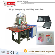 Máquina de soldadura elástica de alta freqüência dobro da estrutura da membrana do PVC da estação 5KW