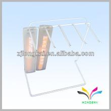 Organizador de joalharia, pé de pé, relógio, preto, fio, metal, exposição, stand