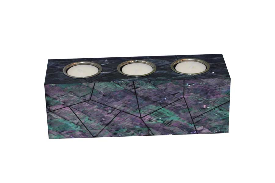 paua shell candle holder