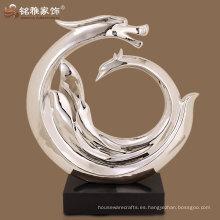 rosa de oro decoración de hotel de alta calidad decoración escultura de resina abstracta
