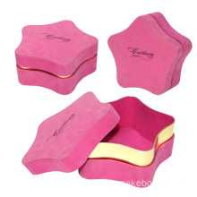 Pink Velvet Two Pieces Christmas Gift Box Bintang Lima