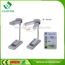 High quality plastic 3 led book reading lamp for beds