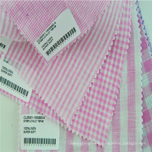 In stock supply checkered fabric for children clothing
