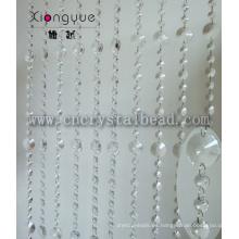 Cortina de cristal popular cortina moldeada cristalina con cuentas de cristal
