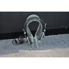 Titular acrílico claro alto popular da exposição do HeadPhone da forma