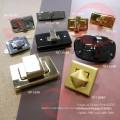 Para bolsas de cuero de accesorios de metal Oval Twist Turn Lock