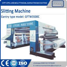 Máquina de corte y rebobinado para papel, películas