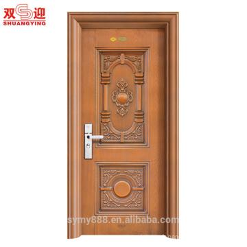 Vente chaude Anti-Vol porte d'entrée de la maison en acier porte principale indienne conçoit