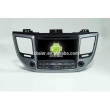 Quad core android lecteur multimédia de voiture, wifi, BT, lien miroir, DVR, SWC pour Hyundai IX35 2015