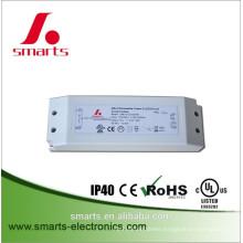 ETL FCC listed 12v 24v 30w dali dimmable led driver