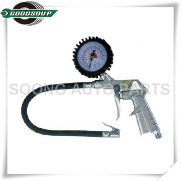 """1/4 """"indicador de neumático del dial del varón / inflación del neumático / arma del neumático con la cubierta de goma"""