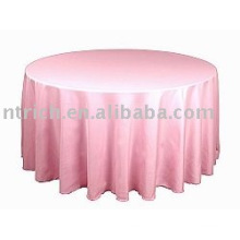 toalha de mesa poliéster simples, tampa de tabela