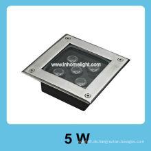 Quadrat 5W Hochleistungs-Untertagelicht geführt
