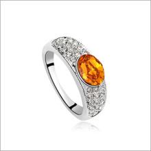 VAGULA redonda Zircon moda anel de prata Hlr14139