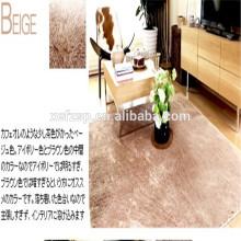 100% polyester microfibre vinyle tapis de table ronde agréable 100% polyester microfibre absorbent tapis d'eau