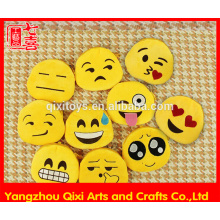 Promotional cheap plush emoji coin purse small size emoji change purse cute emoticon emoji bag