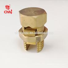 Connecteur boulon fendu en laiton de haute qualité pour la connexion de câble