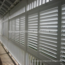 visible tilt rod bespoke pvc shutter