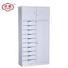 China armários de armazenamento modernos feitos sob encomenda do metal da fábrica KD com 10 gavetas