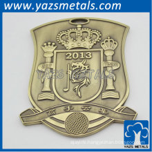 Golf club badge for promotion