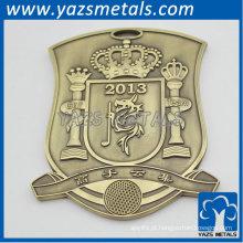 Emblema do clube de golfe para promoção