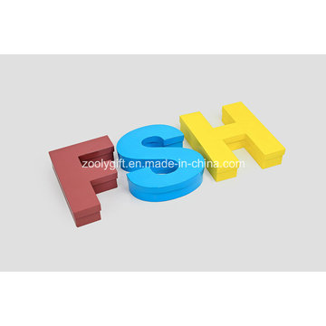 Caixas personalizadas de exibição de cartaz Grade de grade exibir caixas de jóias em forma