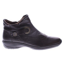 Hochwertiger Leder Tailored Ankle Boots für Frauen