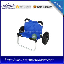 Chariot à remorque, chariot de kayak à roues en PU, chariot de kayak en aluminium anodisé