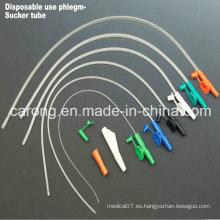 Catéter médico de la succión del control del dedo del PVC