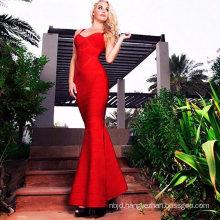 Long Dress Long Bandage Dress Red Dress Sleeveless Fishtail Dress