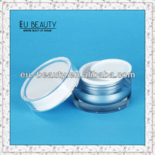 15g round shaped clear acrylic cosmetic jar