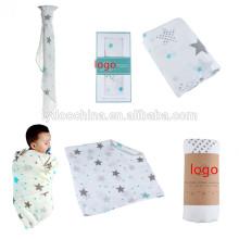 ребенок Муслин пеленать с 100% хлопчатобумажной ткани