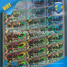 Alto Residuo Total de la transferencia de seguridad vacío patrón holográfico de etiqueta / manipulación indebida