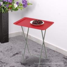 Compagnie pliable Design pliable Table à fruits Bureau Couleur Rouge Bleu Blanc Table pliante en plastique