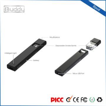USB charge Bpod vaporizer pen factory price unfilled pod vape cartridge