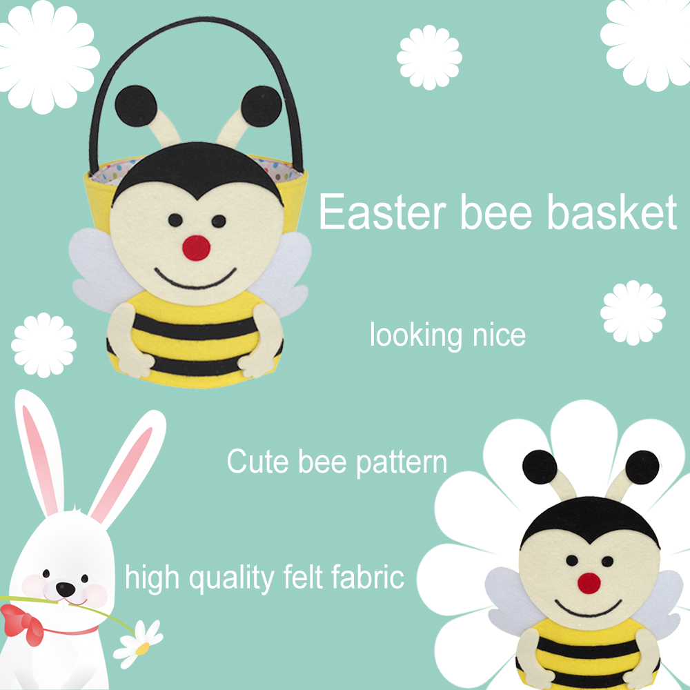 Easter bee pattern basket