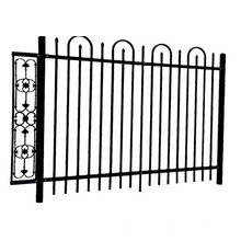 Outdoor Powder Coated Galvanized Residential Steel Fence