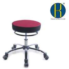 Verstellbarer Swivel Hydraulischer Leder-Salon-Schemel-Rollensitz mit entfernbarer Rückenlehne