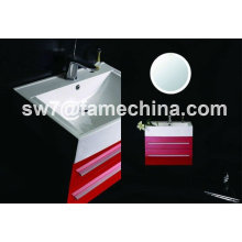 2013 Red High Gloss Painting MDF Hotel Bath Vanity