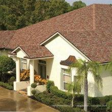 Tuile de toiture rouge / bardeau d'asphalte de Johns Manville / matériau de toiture auto-adhésif (ISO)