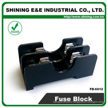 FB-6012 For 6x30mm Glass Fuse Rail Mounted 600V 2 Pole 15A Fuse Block